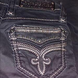 Black 😈 Rock Revival jeans